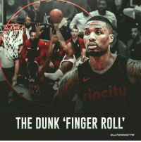 """What an incredibly crafty move by Dame Dolla! 👌 """"Follow @portlandblazersnation if you're a real TEAM fan!"""": Sap  THE DUNK 'FINGER ROLL What an incredibly crafty move by Dame Dolla! 👌 """"Follow @portlandblazersnation if you're a real TEAM fan!"""""""