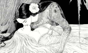 sapphetti:  An illustration made for The Sleeper and the Spindle (written in 2013 by Neil Gaiman) by Chris Riddell: sapphetti:  An illustration made for The Sleeper and the Spindle (written in 2013 by Neil Gaiman) by Chris Riddell