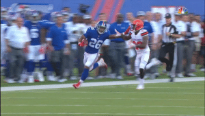 .@saquon's first preseason touch?   Juked a couple defenders and took it 39 yards downfield.👏   📺: #NYJvsNYG TONIGHT on @nflnetwork at 7 p.m. ET https://t.co/nZHcvHYKnQ: .@saquon's first preseason touch?   Juked a couple defenders and took it 39 yards downfield.👏   📺: #NYJvsNYG TONIGHT on @nflnetwork at 7 p.m. ET https://t.co/nZHcvHYKnQ