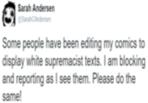 Humble, Water, and White: Sarah Andersen  Some people have been editing my comics to  display white supremacist texts. I am blocking  and reporting as I see them. Please do the  same 87+ Humble Water Filter Salesman Assaulted By Alt Left Goblin The ...