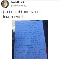 """@whitepeoplehumor always makes me laugh 😂: Sarah Bryant  @sarahbryant  I just found this on my car..  I have no words  o Whoeues owns this Con  y grand fxter smoked his whole Uie  as about 10 years old when  hrether soid to him,""""It you  to ste your grana chenn  an  le  yod  ne to  what wos at stake, He ut co  That very day. Three yeas later he died  stop immediately Teors velled  up in his cyes uden he realized ea  ung Cancer. we ver very close, a  his death destroyed me.mt m。  To me,"""" Please hever smake, Don't put your  earnily怀rough what your grandfatler put  us through gred. At 18 hove neu  touched cigarc He、I must say, seee!  a Very slight Sense of regret r never @whitepeoplehumor always makes me laugh 😂"""