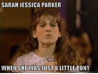 Funny, Sarah Jessica Parker, and Celebrities: SARAH JESSICA PARKER  IWHEN SHE WAS JUST A LITTLE PONY Young Celebrity