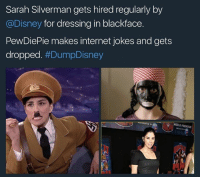 """""""Don't you stupid goyim know that it's only funny when (((WE))) do it?"""" -Innadesert: Sarah Silverman gets hired regularly by  @Disney for dressing in blackface  PewDiePie makes internet jokes and gets  dropped. """"Don't you stupid goyim know that it's only funny when (((WE))) do it?"""" -Innadesert"""