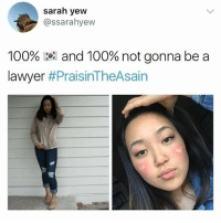 I wanna post something for black or African twitter one day but my pictures can't compare to everyone else's yet: sarah yew  @ssarahyew  100% and 100% not gonna be a  lawyer I wanna post something for black or African twitter one day but my pictures can't compare to everyone else's yet