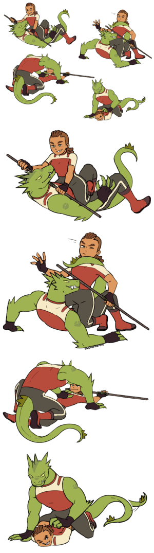 saccharinerose:  Rogelonnie training fights.They are super giddy about wrestling each other: SArCharinerose   SOccharinerose saccharinerose:  Rogelonnie training fights.They are super giddy about wrestling each other