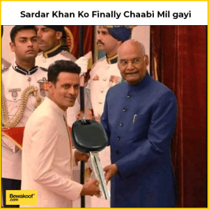 Sardar singh ko finally chaabi mil gayi Only Gangs of Wasseypur fans will get this: Sardar Khan Ko Finally Chaabi Mil gayi  Bewakoof  .com Sardar singh ko finally chaabi mil gayi Only Gangs of Wasseypur fans will get this