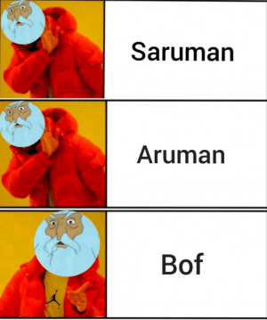 The Worst, Lord of the Rings, and Saruman: Saruman  Aruman  Bof This is the worst thing I've ever done