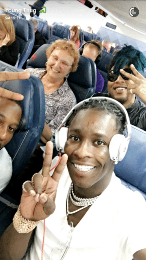 Thug, Young Thug, and Airplane: Sat 15: Young Thug makes a friend on an airplane