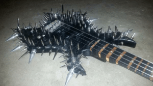Tumblr, Blog, and Fuck: satanic-woemaster:  demoncyovfilth:  How the fuck can someone even play on this guitar  With pleasure