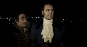 "satirizing:  inquisitorpsyduck:  guillermodltoro: What We Do in the Shadows (2014) sometimes I wonder how much of this movie was scripted and how much was improve.  ""Basically for those of you who don't know, the whole film's improvised, so those scenes with the werewolves went on for about ten minutes longer than they should have. And it took hours and hours just to shoot everything because we do 15 takes or something. And no one knew when to say cut. We would look at each other and go, 'We're in character! Okay, yeah keep going!'"" [x] : satirizing:  inquisitorpsyduck:  guillermodltoro: What We Do in the Shadows (2014) sometimes I wonder how much of this movie was scripted and how much was improve.  ""Basically for those of you who don't know, the whole film's improvised, so those scenes with the werewolves went on for about ten minutes longer than they should have. And it took hours and hours just to shoot everything because we do 15 takes or something. And no one knew when to say cut. We would look at each other and go, 'We're in character! Okay, yeah keep going!'"" [x]"