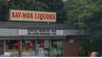 Funny, Funny Signs, and Rest: SAV MOR LIQUORS  STARELEETBADGESNOI VALD  FOR LIQUOR PUROHASES TODD  DALES  PALE ALE  OPEN  SAKNOR  SNEDKA  153 Dammit Todd, ruining it for the rest of us. (Xpost from r/funny)