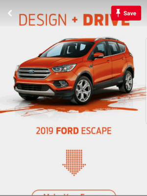We have to kill it, it's tasted human blood.: Save  DESIGN DRIVE  2019 FORD ESCAPE We have to kill it, it's tasted human blood.