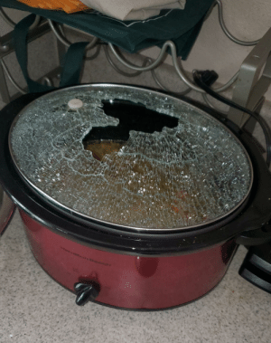 Saw someone post that their sink exploded. My crockpot top exploded while cooking soup.: Saw someone post that their sink exploded. My crockpot top exploded while cooking soup.