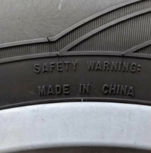 Saw this on my new cheap tires: Saw this on my new cheap tires