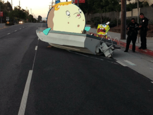 Saw this tragic traffic accident on my way to work today.: Saw this tragic traffic accident on my way to work today.