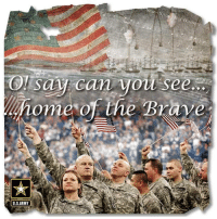 Memes, Brave, and Braves: say can  see.  ome of the Brave  ARMY  U S Home of the brave!