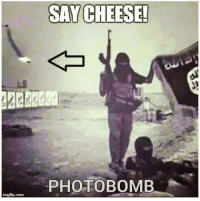 BYE! Say HI to the MOAB: SAY CHEESE!  PHOTO BOMB BYE! Say HI to the MOAB
