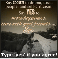 I love, love, love this!!  The Horse Mafia: Say GOODBYE to drama, toxic  people, and self-criticism  Say YES  to  more h  time with good friendda, and  Unknown  Type yes if you agree! I love, love, love this!!  The Horse Mafia