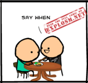 Dank, Fucking, and Trap: SAY WHEN Don't fucking listen to him, it's a trap  Read the full comic at: http://explosm.net/comics/3520/