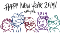 Children, New Year's, and Target: sbblyen bubblyernie:  Happy New Year from my childrenart tag // commission info