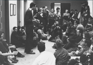 """Bernie Sanders, Definitely, and Fucking: sbrown82:  lunablaze:  retropopcult:  20 year old Bernie Sanders leading student sit-in against segregation, 1962.  This should be fucking everywhere  He was also a member of SNCC (The Student Non-Violent Coordinating Committee) alongside MLK and many other black folks. He was definitely about that life.   yeah like i understand people who say""""he's just pandering to get us to like him"""" ok fair point- so use fucking google and check his record. he's the real deal. no one is perfect, but hes the best thing we have RN so stfu skeptics and get voting or else we give the presidency to margaret thatcher 2.0 or Hitler 2.0"""