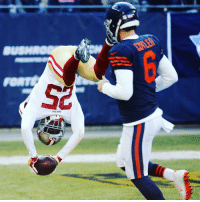 Jay Cutler watches 49ers' Jimmie Ward front flip into the end zone after he picked him off. 😂😂😂: SC Jay Cutler watches 49ers' Jimmie Ward front flip into the end zone after he picked him off. 😂😂😂