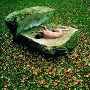 scarecrowbox:Timm Ulrichs, Der Findling, 1978, Performance: 10 hours in a closed stone: scarecrowbox:Timm Ulrichs, Der Findling, 1978, Performance: 10 hours in a closed stone