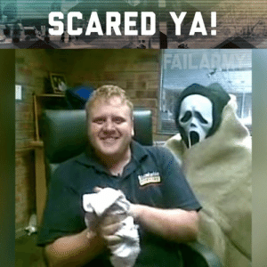 Memes, 🤖, and Who: SCARED YA We all know someone who gets scared easily!