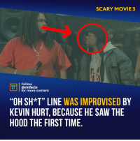 "Facts, Lol, and Memes: SCARY MOVIE 3  Follow  CINEMA  FAİTS. | @cinfacts  for more content  ""OH SH*T"" LINE WAS IMPROVISED BY  KEVIN HURT, BECAUSE HE SAW THE  HOOD THE FIRST TIME Back when Kevin Hurt was barely known. And now everyone knows his name lol. Your thoughts?⠀ -⠀⠀ Follow @cinfacts for more facts"