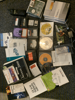"""Going through wife's office before moving, came across this gold. Pure nostalgia: Scess ZOO  ATTENTION  Upgrade  Professional  PCet  LINE  25%off  SNET  SNET DSL Internet  stays MART be  Solutions Guide  CONNECTED  hd d w p y  u for P  e  MAINBOARD  p anett  INSTALLATION AND USER'S GUIDE  Manual  dadapted  MK32N  ADAPTEC ATA RAID 1200A  owDs-150  elrina  Using  EXPu  TRAVAN  Microsoft  898  Access 2000  Shuttle  imation  G STARTED  DELRINA  SB 16-bit  Multimedia  Audio Card  and  TAPESTOR  4/8 GB  deas  ATTENTION  paeds oogp  s 700 UR sap oo epow  bmo ams 0na  09  Panasonic  Raid Driver for Windows  TOROPOW  PN: 602424  Sneptior Leg  Intel DQ57TM  2K8 32 SATA Raid Diiver  AALY  PCIGB  Formatted  for IBM-  compatibles  జ  2HD IBM  imation  Expond you hard drive witht  Zire 71  ebaoy  USER REFERENCE MANUAL  dnpg  Prlor digl eding for oud  poeoquiew  instalation  pc100 SystemBoard  pe  Vin  Lotus  eios do  MART Suite  96  millenniam edition  Intel Pentium III Processor  Certificate of Authenticity  Three Year Limited Warranty  Installation Manual  Slot-to-SocketAdapter (SSA) Warming  Fan Hcatsink Waming  Congratulations an the parchase of your  Instel Pentiun"""" Il processor-hosed  system As millaos of satfied lntel  castomers huve discovemd Intel processers  form the foundation of a plattim thar  delivers the high perfimance roquined of tod  Super Socket 7  Access 2003  Microsoft Office  the Mcrootofice Da e agme  M598LMR USER'S MANUAL  om poe vu u pe  The hologram on the processor packapihg  is per assurance tht your system is powerel  Issel processor  This bosed processarcvered by a Theoe Yec  Warranly. Warany relies limitod, at  mpair, replacemen retund  K Supin oanh i 3n no  processor in your system contact your pl  Intel isee back over for infiormution ren  contact Intel in your on  intel  Microsoft Going through wife's office before moving, came across this gold. Pure nostalgia"""