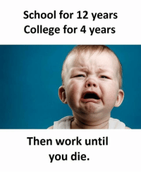 🙃🙃🙃🙃🙃🙃🙃 meme funny jokes money crazy ChammerMeme laugh lol lmao smh dank nochill hood viral bitch dog savage basicbitch cat humor picture fashion makeup: School for 12 years  College for 4 years  Then work until  you die. 🙃🙃🙃🙃🙃🙃🙃 meme funny jokes money crazy ChammerMeme laugh lol lmao smh dank nochill hood viral bitch dog savage basicbitch cat humor picture fashion makeup