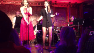 Singing, Target, and Tumblr: schottswinn:  Melissa Benoist and Laura Benanti singing Gasoline and Matches and slaying