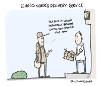"""Omg, Tumblr, and Blog: SCHRODINGERS DEuVERY SERVICE  YEA BUT I WASNT  PEFINITELY BRoKEN  UNTIL You OPENED  THE BOx  ,י <p><a href=""""https://omg-images.tumblr.com/post/168750661892/uncertain-business-practices"""" class=""""tumblr_blog"""">omg-images</a>:</p>  <blockquote><p>Uncertain Business Practices</p></blockquote>"""