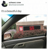 Beautiful, Memes, and 4 20: schwarz crow  @schwarzcrow94  It's a beautiful day  4:20  te Ladies & gentleman this is your pilot speaking if you look out your window you'll notice we have a slight chance of turning tf up... @pmwhiphop