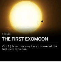 "Memes, Nasa, and Best: SCIENCE  THE FIRST EXOMOON  Oct 3 | Scientists may have discovered the  first-ever exomoon. Scientists may have discovered the first moon orbiting another planet outside our solar system, known as an ""exomoon."" Alex Teachey and David M. Kipping from Columbia University published their findings today in the journal ""Science Advances."" Teachey and Kipping spotted what they believe to be the exomoon using NASA's Kepler space telescope, while also utilizing 40 hours of observations from the Hubble Space Telescope. ___ The moon appears to be about the size of Neptune, and seems to orbit a gas planet the size of Jupiter, named Kepler-1625b. Kepler-1625b is about 8,000 light-years away from Earth. ___ Teachey and Kipping first hypothesized this theory in a 2017 study, but now have additional information from the 40 hours of observation from the Hubble Space Telescope. ___ David Kipping told reporters: - ""We've tried our best to rule out other possibilities such as spacecraft anomalies, other planets in the system or stellar activity, but we're unable to find any other single hypothesis which can explain all of the data we have."" __ Photo: ** An artist's impression of the exoplanet Kepler-1625b with the exomoon and transiting star in orbit*** by Dan Durda"