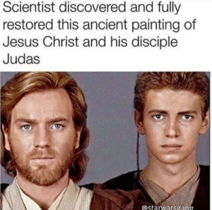 Jesus, Judas, and Ancient: Scientist discovered and fully  restored this ancient painting of  Jesus Christ and his disciple  Judas  astarwarsgang Scientist discovered and fully restored this ancient painting of Jesus Christ and his disciple Judas [2017]