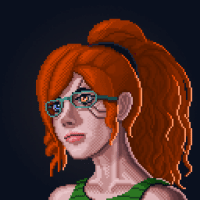 scifiseries:  Protagonist portrait I drew for Another Space Opera game project.: scifiseries:  Protagonist portrait I drew for Another Space Opera game project.