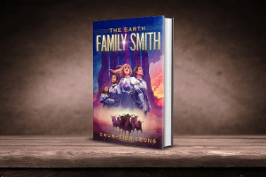 scifiseries: The Earth Family Smith (The Tumuerian Dream) The book begins on Cameron's last day on Earth. Cameron is a teenage girl who, with her parents and her two siblings, is fleeing her climate change-ravaged home. They are just hours away from boarding a space ark that will take them to New Terra, a habitable planet located on the far side of a recently discovered wormhole. After they board the ark, they blast toward their destination, but they fail to arrive on New Terra. The three Smith children are separated from their parents, and they crash land on an alien world whose dominant inhabitants largely view them as illegal aliens. Just moments before an angry mob of narrow-minded Arap-Musoogums attack the children, a group of progressive residents intervene. The Smith children befriend their saviors, and through their new friends they learn that political partisanship on Tumuera is not much different from the political divide they left behind on Earth. Cameron, the oldest of the three siblings, is idealistic and empathic, and she imagines that she can prove her worth by working hard and staying humble. But the nativist forces on Tumuera, led by an orange-skinned commander-in-chief, will stop at nothing to deport all illegal aliens from the planet. The Smith children have no way to return to Earth, so deportation means death for them. They will have to fight to survive on Tumuera. Buy at Amazon   : scifiseries: The Earth Family Smith (The Tumuerian Dream) The book begins on Cameron's last day on Earth. Cameron is a teenage girl who, with her parents and her two siblings, is fleeing her climate change-ravaged home. They are just hours away from boarding a space ark that will take them to New Terra, a habitable planet located on the far side of a recently discovered wormhole. After they board the ark, they blast toward their destination, but they fail to arrive on New Terra. The three Smith children are separated from their parents, and they crash land on an alien world whose dominant inhabitants largely view them as illegal aliens. Just moments before an angry mob of narrow-minded Arap-Musoogums attack the children, a group of progressive residents intervene. The Smith children befriend their saviors, and through their new friends they learn that political partisanship on Tumuera is not much different from the political divide they left behind on Earth. Cameron, the oldest of the three siblings, is idealistic and empathic, and she imagines that she can prove her worth by working hard and staying humble. But the nativist forces on Tumuera, led by an orange-skinned commander-in-chief, will stop at nothing to deport all illegal aliens from the planet. The Smith children have no way to return to Earth, so deportation means death for them. They will have to fight to survive on Tumuera. Buy at Amazon