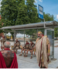 Soldiers, Roman, and Carthage: Scipio Aemilianus instructing Roman soldiers right before their departure to conquer Carthage (146 BC)