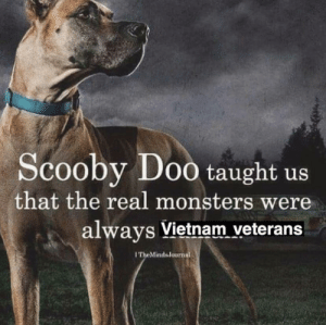 in a few years it's gonna be Iran veterans: Scooby Do0 taught us  that the real monsters were  always Vietnam veterans  ITheMinds Journal in a few years it's gonna be Iran veterans