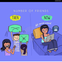Memes, 🤖, and How: scooWHOOP  NUM BER OF FRIEND S  THEN  NOW  1000 Nostalgic illustrations perfectly capturing how our friendships have changed over the years. ScoopWhoop