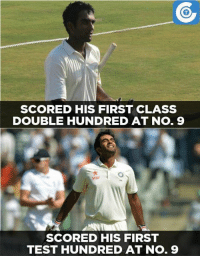 Do you know that Jayant Yadav has scored a double ton in FC cricket?: SCORED HIS FIRST CLASS  DOUBLE HUNDRED AT No. 9  Star  SCORED HIS FIRST  TEST HUNDRED AT No. 9 Do you know that Jayant Yadav has scored a double ton in FC cricket?