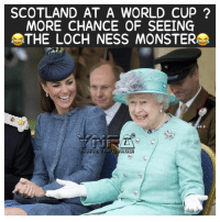 loch ness monster: SCOTLAND AT A WORLD CUP  MORE CHANCE OF SEEING  ATHE LOCH NESS MONSTER