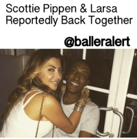 Memes, 🤖, and Scottie Pippen: Scottie Pippen & Larsa  Reportedly Back Together  @balleralert Scottie Pippen & Larsa Reportedly Back Together - blogged by: @eleven8 ⠀⠀⠀⠀⠀⠀⠀⠀⠀ ⠀⠀⠀⠀⠀⠀⠀⠀⠀ It appears ScottiePippen has decided that a divorce was not in the cards for him and his estranged wife Larsa. ⠀⠀⠀⠀⠀⠀⠀⠀⠀ ⠀⠀⠀⠀⠀⠀⠀⠀⠀ Back in October, there were rumors that Larsa had been spotted around Miami with Future. These rumors were said to have been the cause of Scottie asking for a divorce, then subsequently requesting full custody of the couple's children. Months later there were rumors that Future broke it off with Larsa and now it appears Larsa and Scottie's relationship is on the mend. ⠀⠀⠀⠀⠀⠀⠀⠀⠀ ⠀⠀⠀⠀⠀⠀⠀⠀⠀ Scottie and Larsa were seen leaving The Nice Guy in West Hollywood over the weekend. Larsa was spotted rocking a huge 14k diamond watch that Scottie gifted her as an early Valentine's Day gift. It's good that they were able to work things out. They've been together for a very long time.