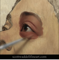 Painting another eye. Loving this @trekell_art_supplies wood panel. So smooth and great for detail. oilpainting portrait portaitpainting artoftheday visualart painting eye timelapse videooftheday instavideo instaart scottwaddell trekell: Scottwaddellfineart.com Painting another eye. Loving this @trekell_art_supplies wood panel. So smooth and great for detail. oilpainting portrait portaitpainting artoftheday visualart painting eye timelapse videooftheday instavideo instaart scottwaddell trekell
