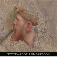 Memes, Paintings, and Break: SCOTTWADDELLFINEART COM Something different. I took a break from my usual paintings to do a little oil sketch from an Alma Tadema painting. Fun to use more colors for once and look at how someone else handles paint oilpaint timelapse timelapsepainting portaitpainting portrait almatadema scottwaddell videooftheday instaart instavideo artoftheday