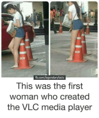How the VLC player was born:: SCP  SCP  fb.com/legendaryfacts  This was the first  woman who created  the VLC media player How the VLC player was born: