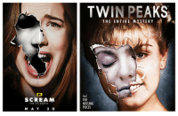 "Something about this ""screams"" blatant plagiarism at me...: SCREAM  THE TV SERIE S  3,  MA A Y  TWIN PEAKS  TMA  THE ENTIRE MYSTERY  And  THE  MISSING  PIECES Something about this ""screams"" blatant plagiarism at me..."