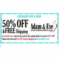 """Tag a friend who needs 50% OFF of a """"friend"""" 😉❤️🙌🏼Get 50% OFF almost any adult item & FREE U.S.-CAN Shipping by using offer code BROKE @AdamandEve's Website. 18+ Only: SCREENSHOT NOW &SHARE  50%OFF Adam&Eve.  &FREE Shipping  www.adamandeve.com  Screenshot now and use the code in the caption below to receive 50% OFF  almost any item and Free US/Canada shipping at AdamAndEve.com Tag a friend who needs 50% OFF of a """"friend"""" 😉❤️🙌🏼Get 50% OFF almost any adult item & FREE U.S.-CAN Shipping by using offer code BROKE @AdamandEve's Website. 18+ Only"""