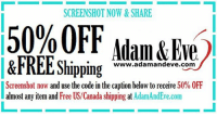 Happy Holidays! Treat YO SELVES and get 50% OFF almost any adult item & FREE U.S.-CAN Shipping by using offer >>TINIS<< at @therealadamandeve's Website. 18+ Only 🎁 ad discount coupon: SCREENSHOT NOW&SHARE  50% OFF  Adam &Eve  ippng ww.adamandeve.corm  )  EEShippinghecapwwhelowtore  Screenshot now and use the code in the caption below to receive 50% OFF  almost any item and Free US/Canada shipping at AdamAndEve.com Happy Holidays! Treat YO SELVES and get 50% OFF almost any adult item & FREE U.S.-CAN Shipping by using offer >>TINIS<< at @therealadamandeve's Website. 18+ Only 🎁 ad discount coupon